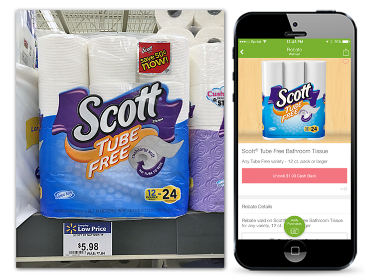 scott tube free toilet paper only at walmart reg the krazy coupon lady. Black Bedroom Furniture Sets. Home Design Ideas