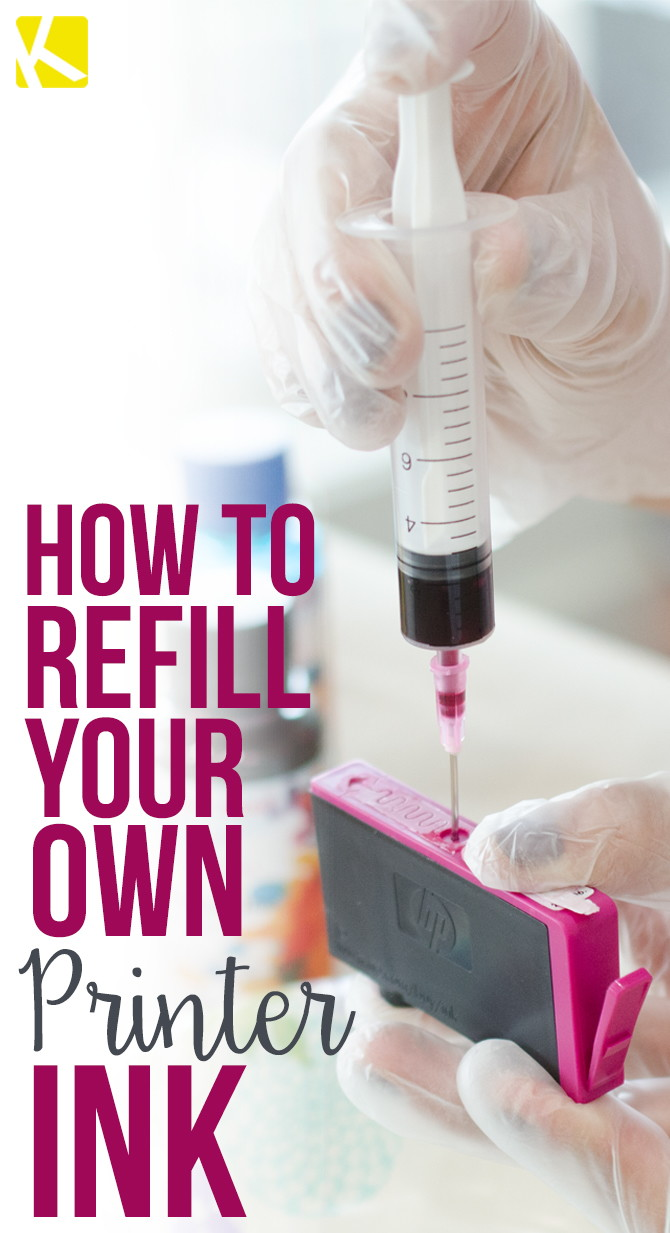 Here's How to Refill Your Own Printer Ink