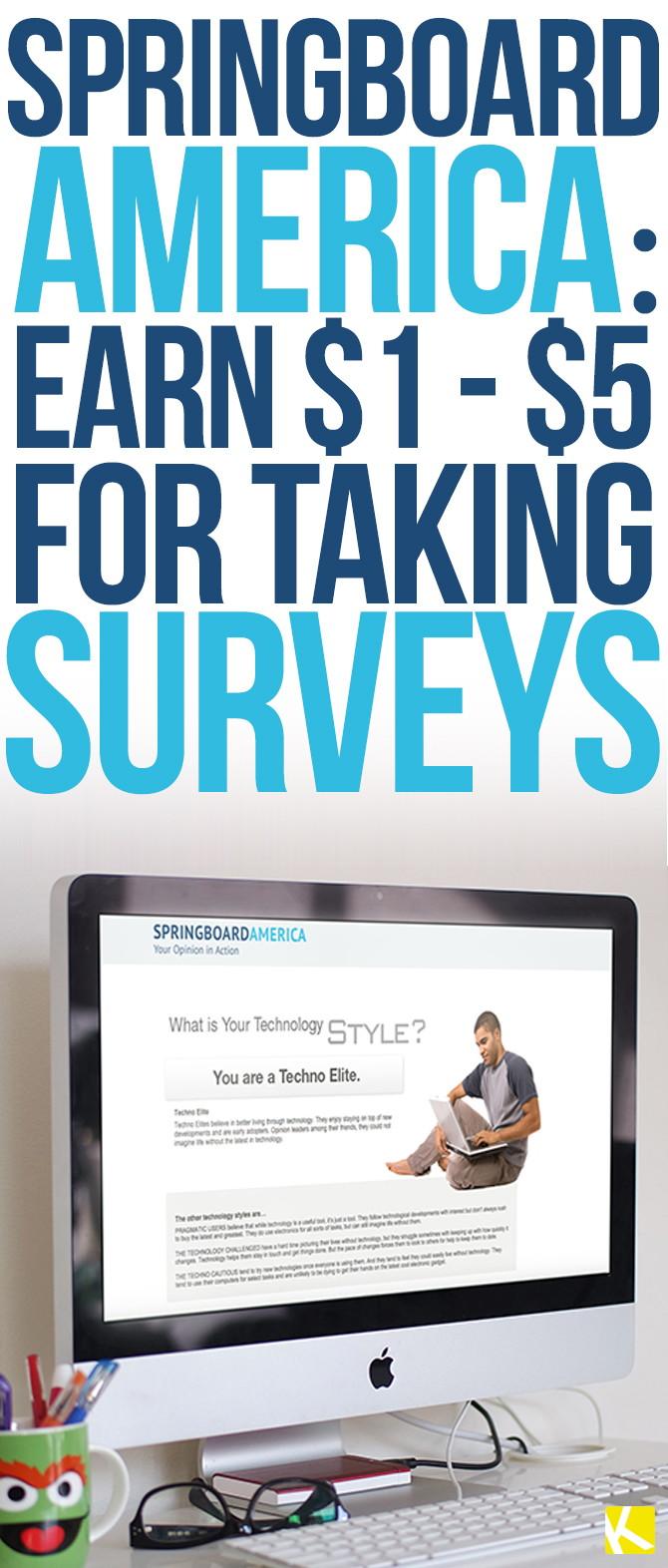 Springboard America: Earn $1 – $5 for Taking Surveys
