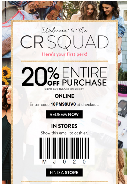 Coupon code for charlotte russe