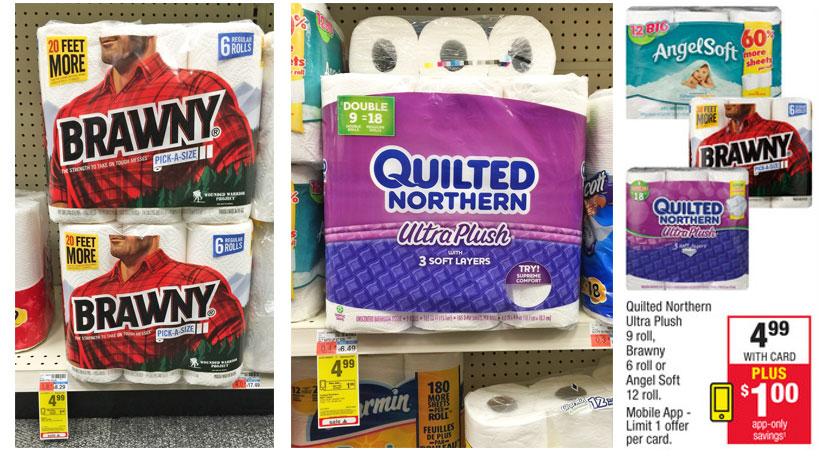 Cheap Angel Soft, Quilted Northern, & Brawny at CVS!