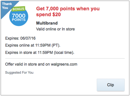 Walgreens-Extra-Points-Offer