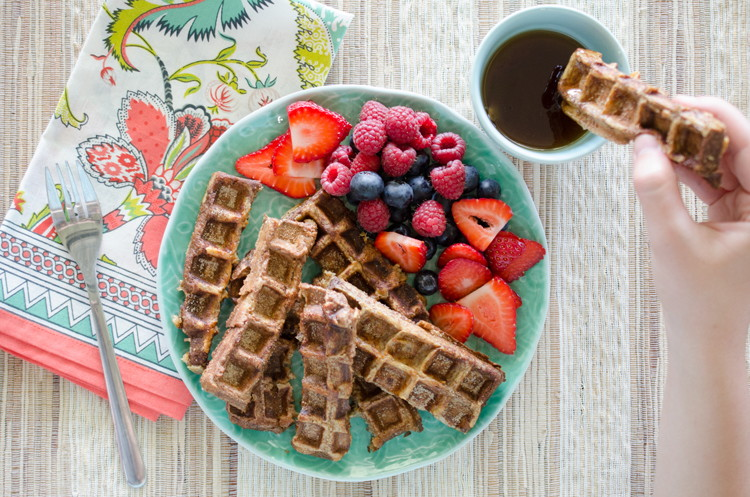 You can also make French toast sticks in your waffle iron.