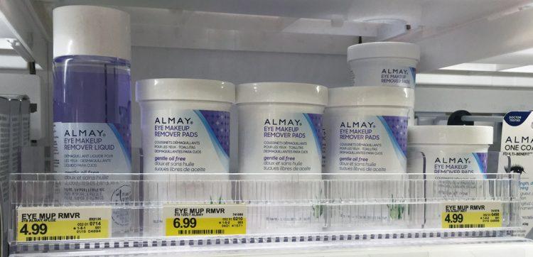 Almay eye makeup remover