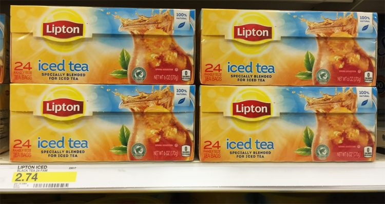 Coupons reduction ice tea