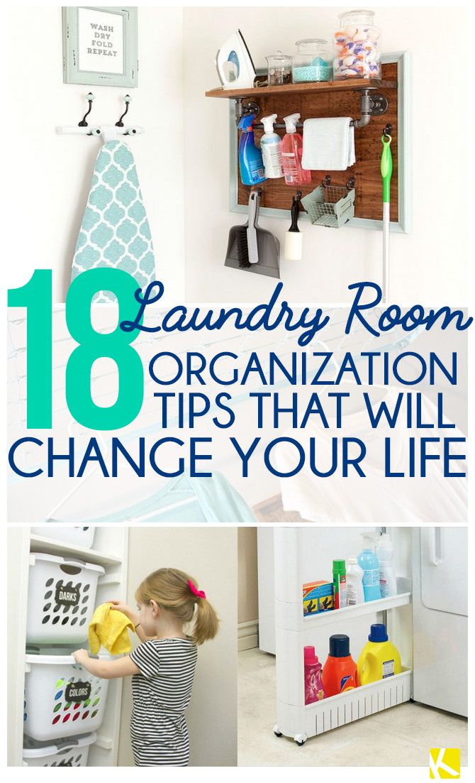 18 Incredible Ways to Organize Your Laundry Room