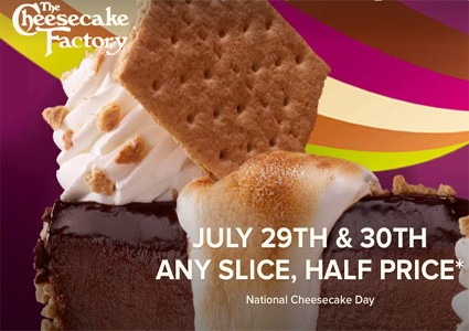 Restaurant Roundup: Half-Price Cheesecake!