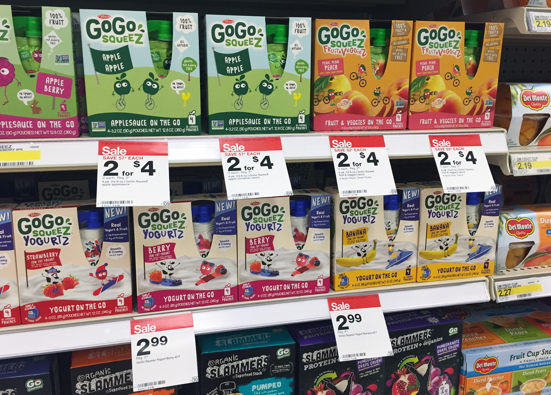 GoGo SqueeZ Pouches, Only $0.30 Each at Target!