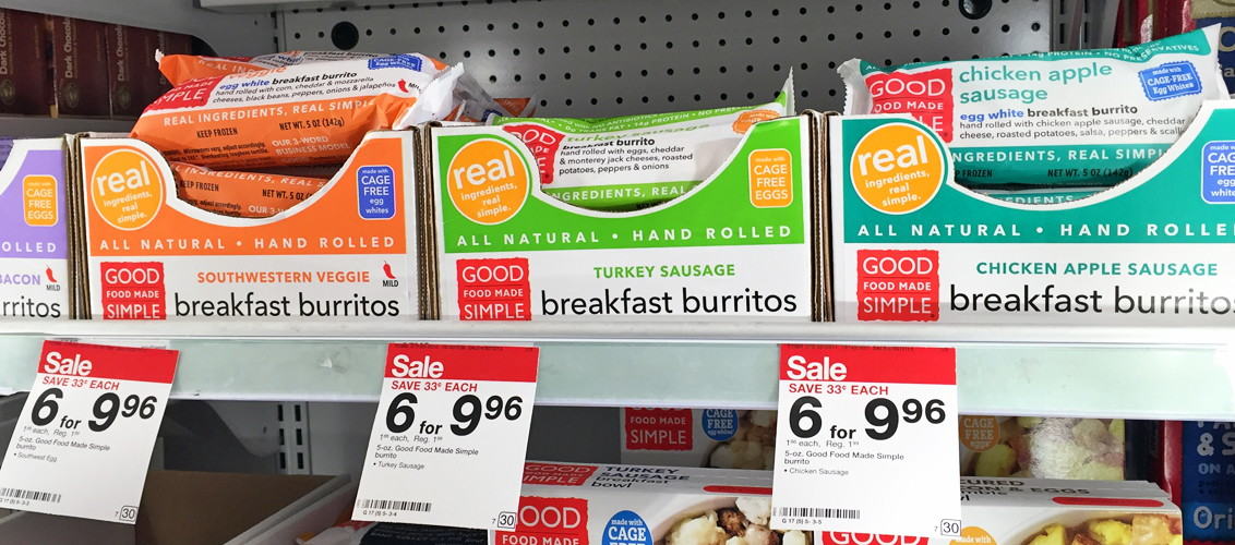 Good Food Made Simple Burritos, Only $0.16 at Target!