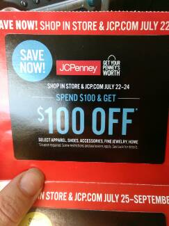 I won a $100 coupon at JCPenney!