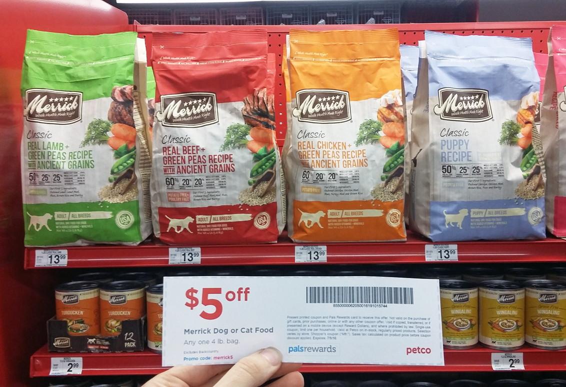 merrick dog food coupons