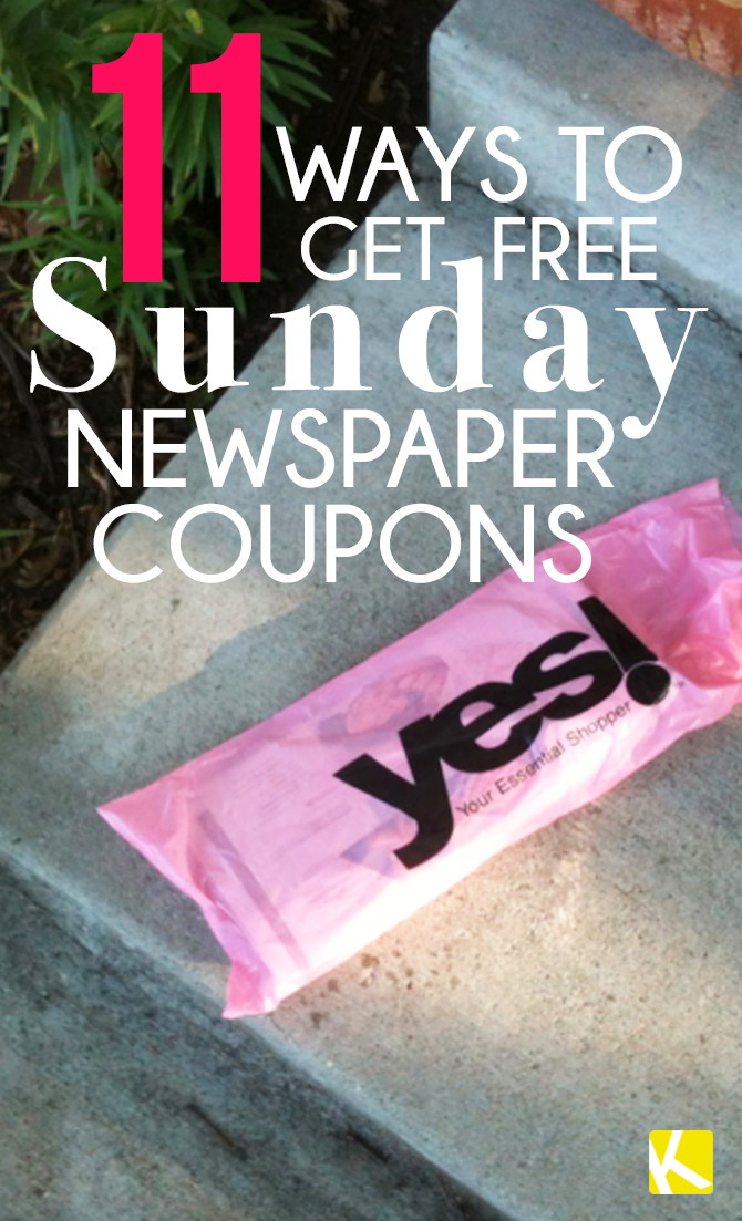 Where can i get free sunday paper coupons