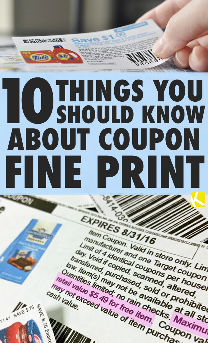 10 Things You Should Know About Coupon Fine Print