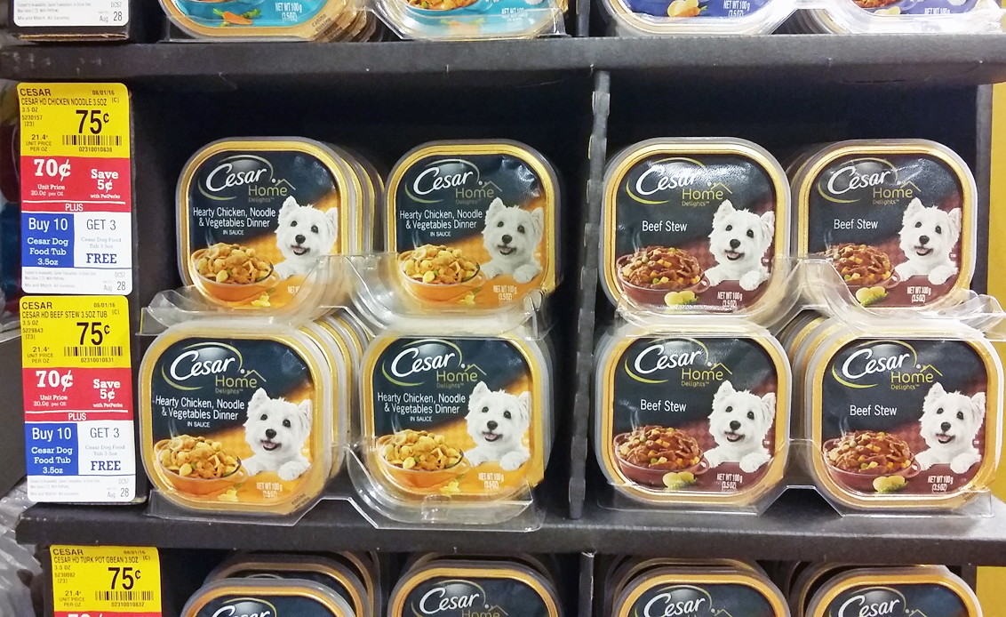 Cesar Dog Food Trays Only 0 27 At Petsmart