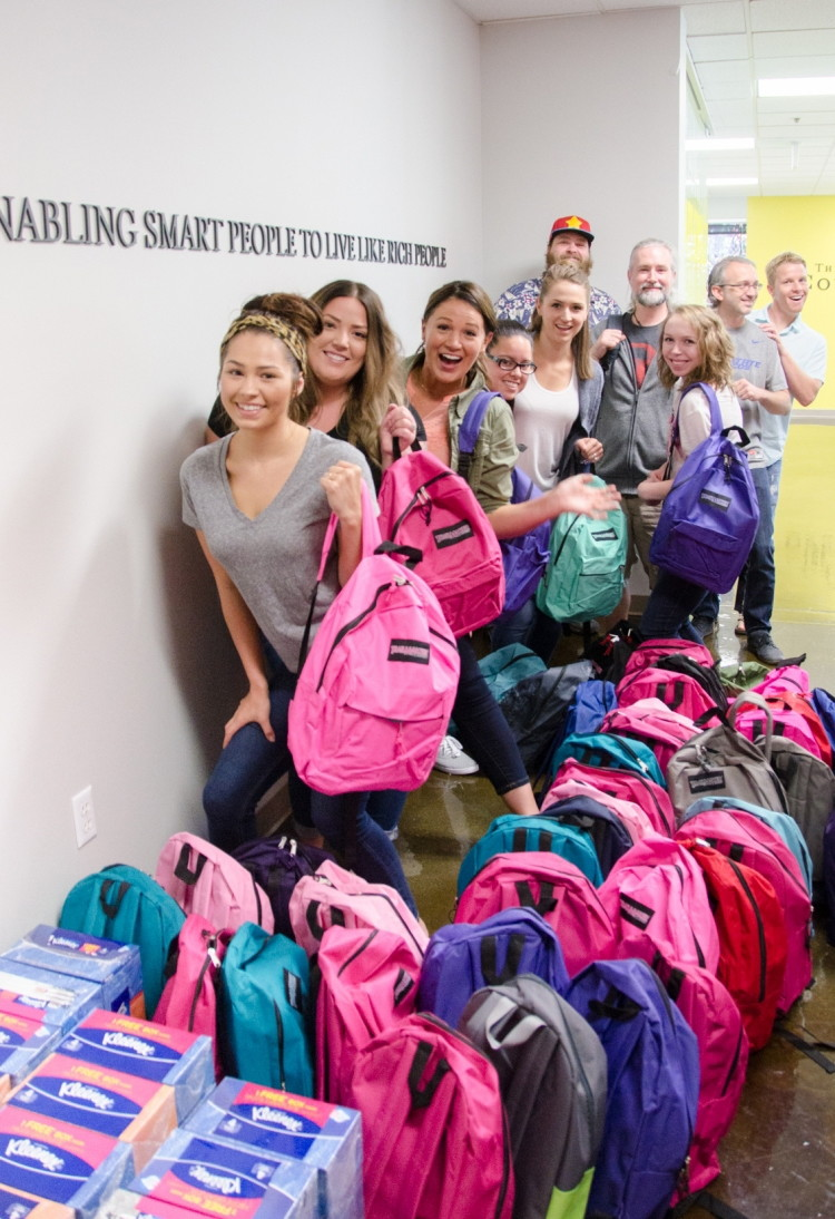 KCL Shops School Supplies for 50 Refugees