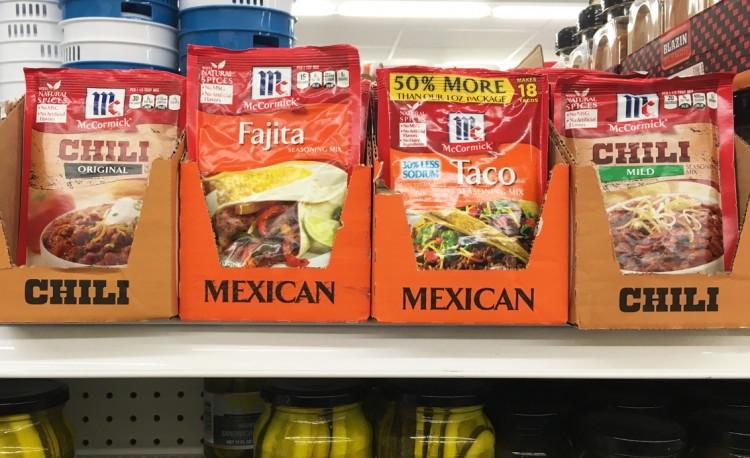 McCormick Dollar Tree Taco mix