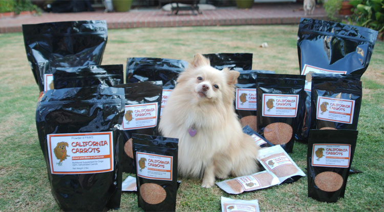 Powder 4 Paws California Carrots Dog Food Supplement