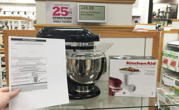 Kohl's has some of the best rebates for appliances.