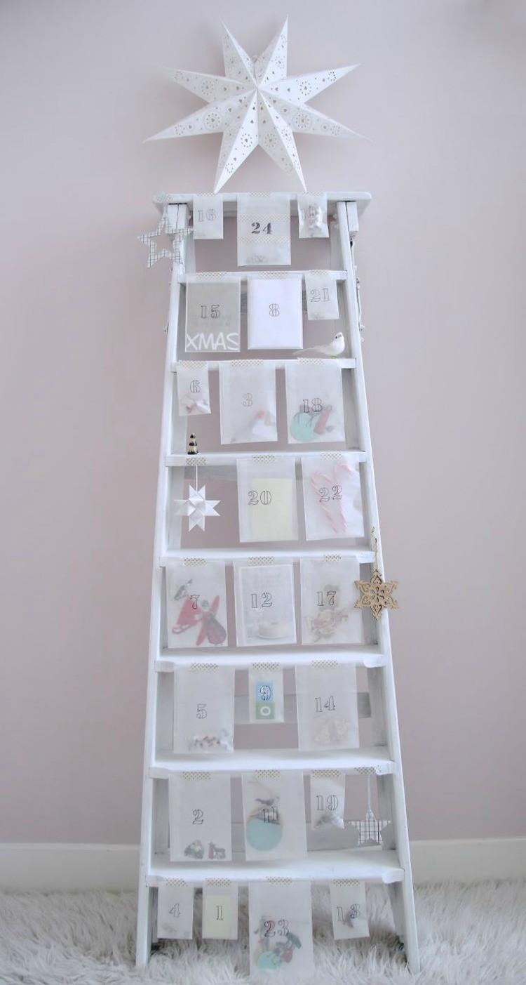 Create an advent calendar tree with a ladder.