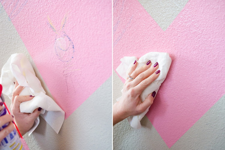 Remove crayon marks on walls and clothing.