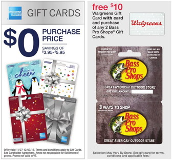 Save on AmEx & Bass Pro Shops Gift Cards at Walgreens! - The Krazy ...