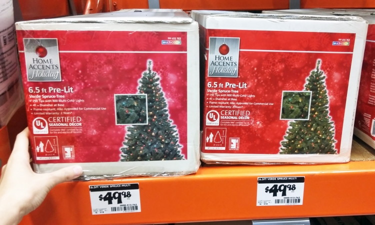 Home Depot 65 Ft Prelit Christmas Tree 4998 Shipped The