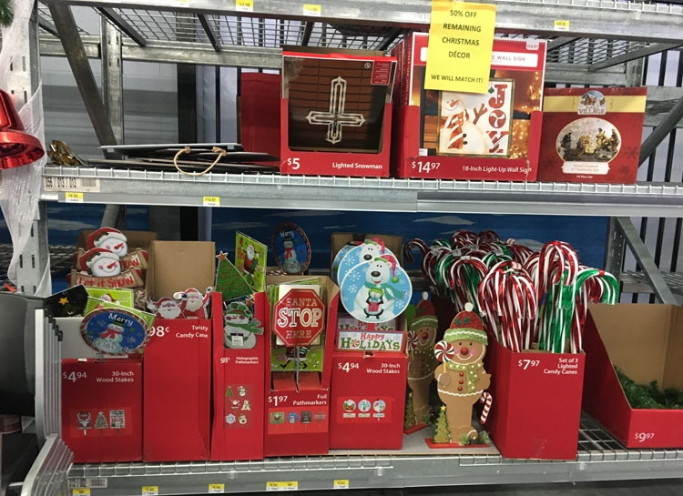 Walmart Clearance: Christmas Decor, as Low as $0.49! - The Krazy ...