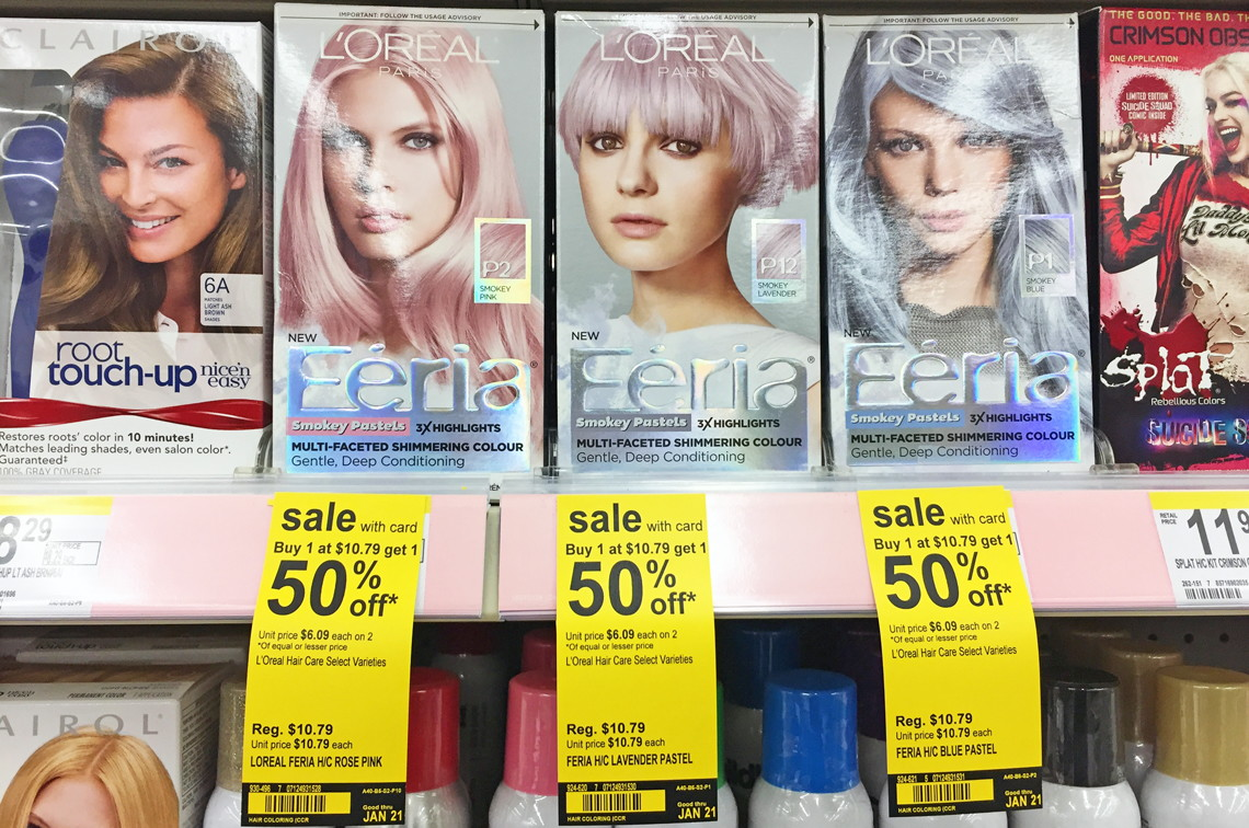 L'Oreal Feria Hair Color, as Low as $0.62 at Walgreens! - The ...