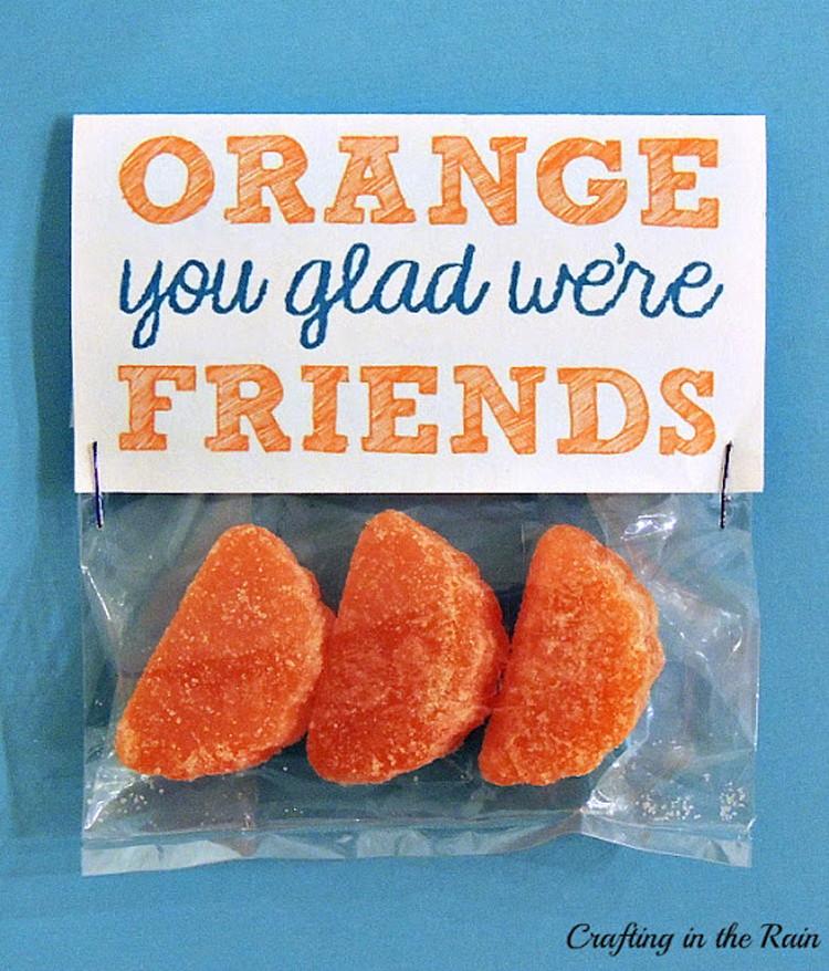 """Orange"""" you glad we're friends."""