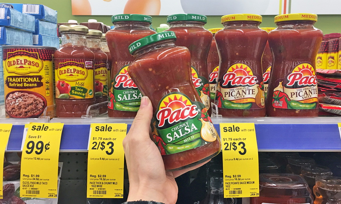Pace Salsa & Old El Paso Taco Fixings, as Low as $0.66