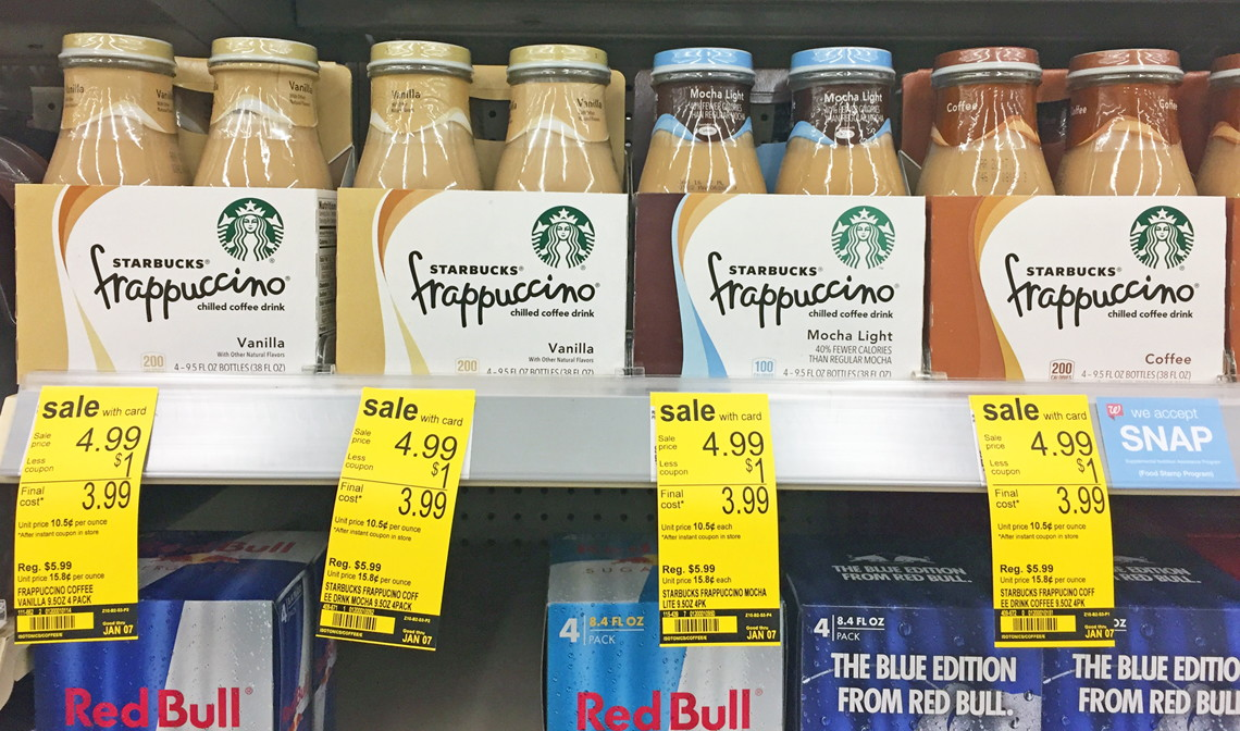 Starbucks Frappuccino Drinks, Only $0.58 Each at Walgreens!