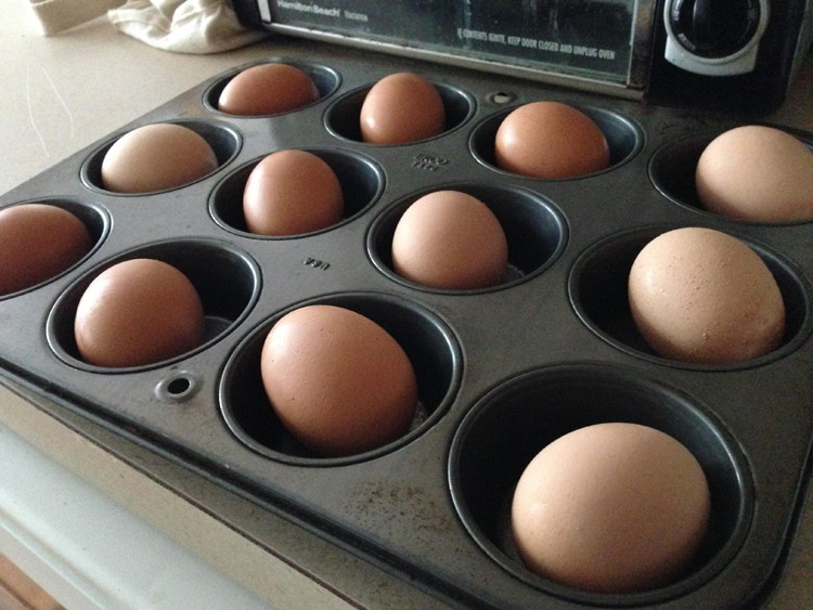 Cook a dozen eggs at once in your oven.