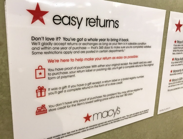 Return/Exchange redlightsocial.ml items to any Macy's store You may return most items purchased on redlightsocial.ml to any Macy's store. Take your merchandise and this invoice (make sure bar code is attached) to your local store.