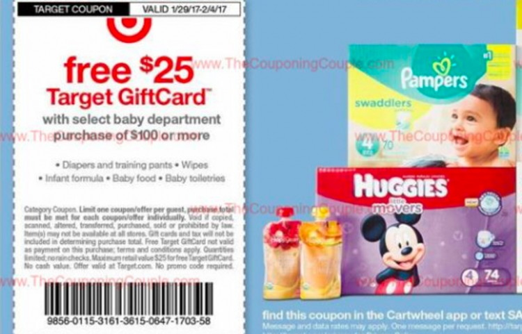 FREE $25.00 Gift Card, Baby Wipes & $16.11 Pampers at Target ...