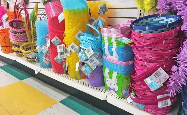100 easter supplies at dollar tree the krazy coupon lady easter baskets basket fillers negle Images