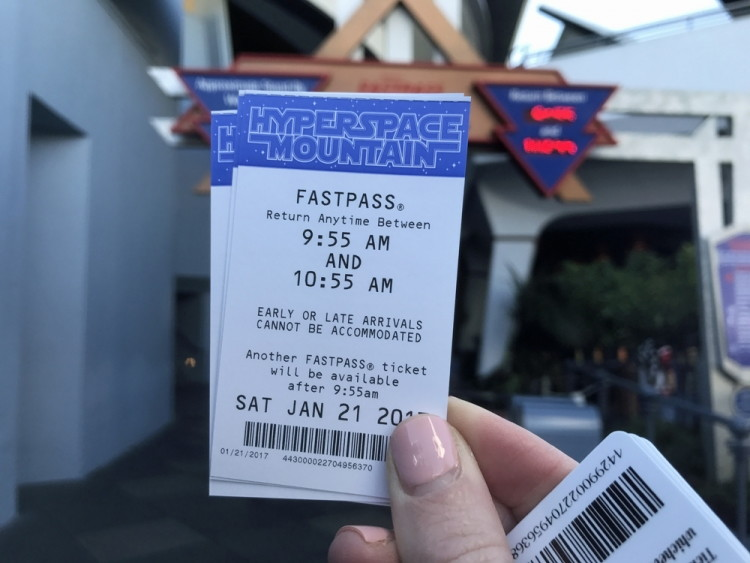 Get Disneyland FastPasses for Indiana Jones and Space Mountain early in the morning.
