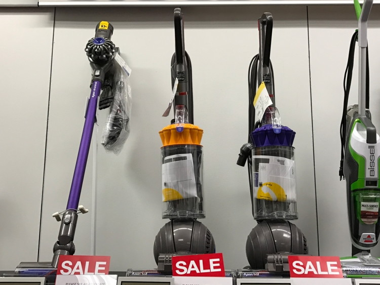 dyson ball multi floor upright bagless vacuum, only $224.99 at