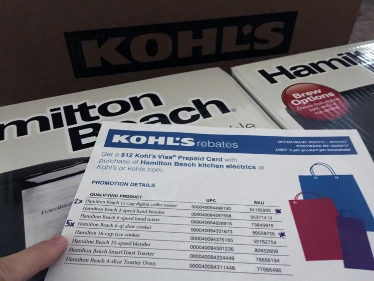 Kohl's $0.21 Hamilton Beach Appliances Are HERE + Tips for Rebate ...