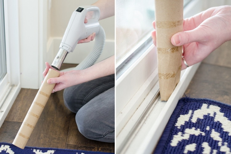 Get into really tight crevices by attaching a cardboard tube to your vacuum hose.