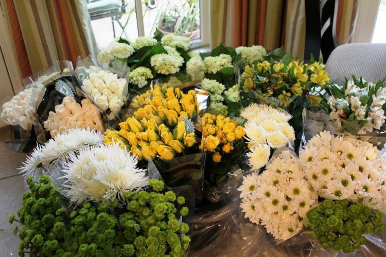 skip the florist and buy bulk flowers from costco or sams club