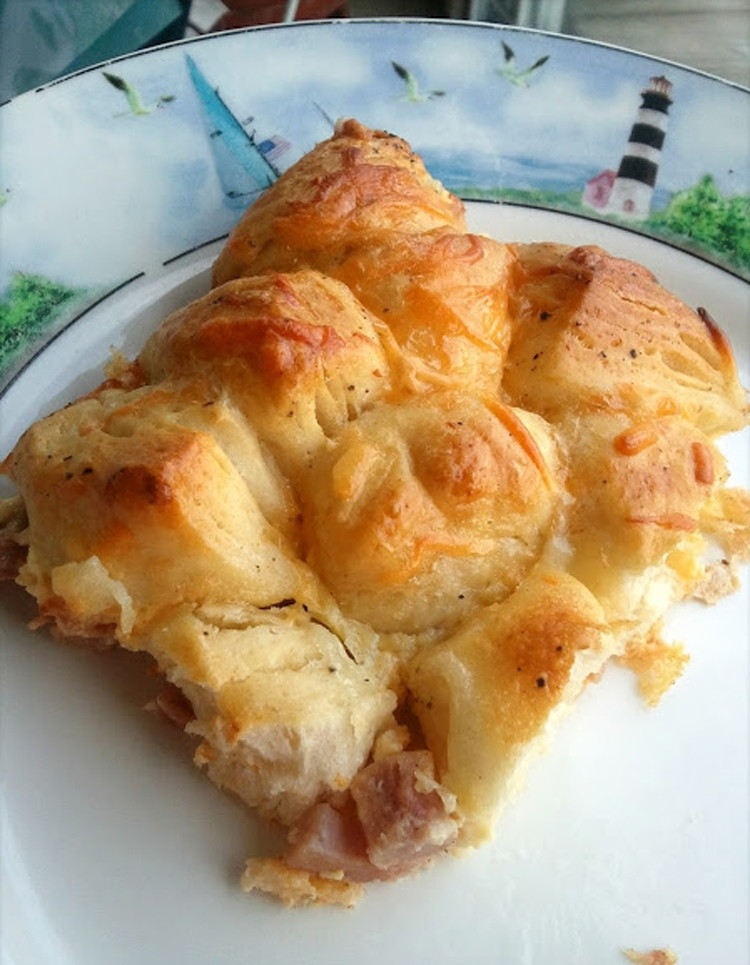 Ham and Cheese Pull Apart Casserole
