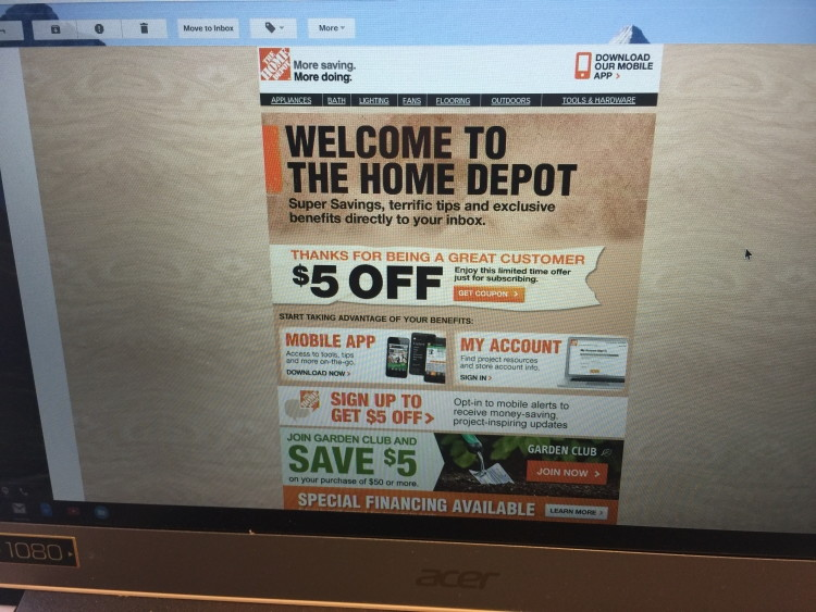Home Depot is the largest home improvement retailer in the United States in bath, building materials, flooring, gardening tools, kitchen and electrical items.