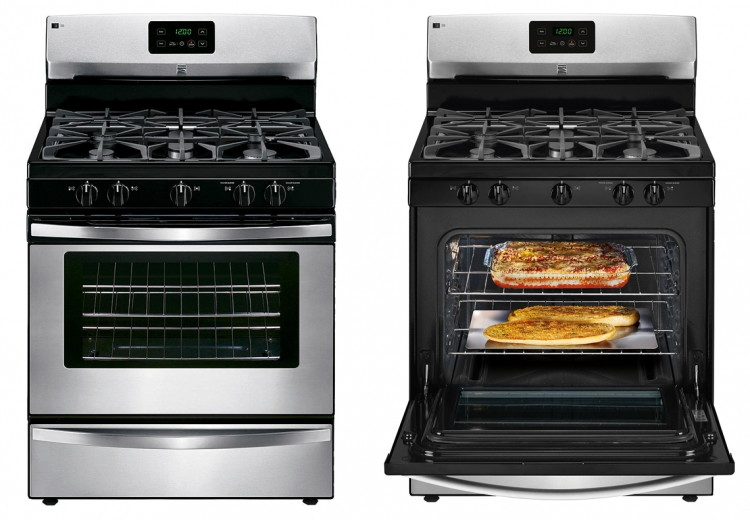 kenmore stove stainless steel. buy 1 kenmore 73433 4.2 cu. ft. freestanding gas range \u2013 stainless steel (reg. $849.99) $449.99. members get $20.00 in shop your way rewards points with the stove