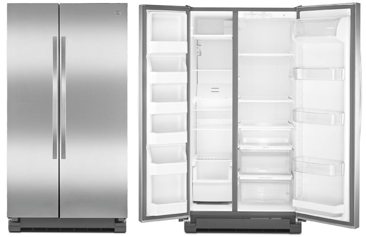 kenmore refrigerator stainless steel. buy 1 kenmore 41153 25 cu. ft. side-by-side refrigerator \u2013 stainless steel (reg. $1,339.99) $799.99. receive 1% in shop your way points (base points) p