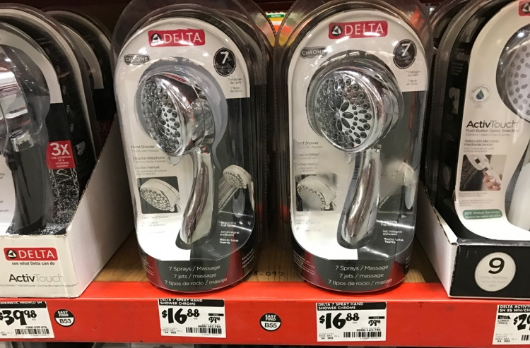 Buy 1 Delta 7 Spray Handheld Handshower In Chrome ( Reg $39.98 ) $16.88