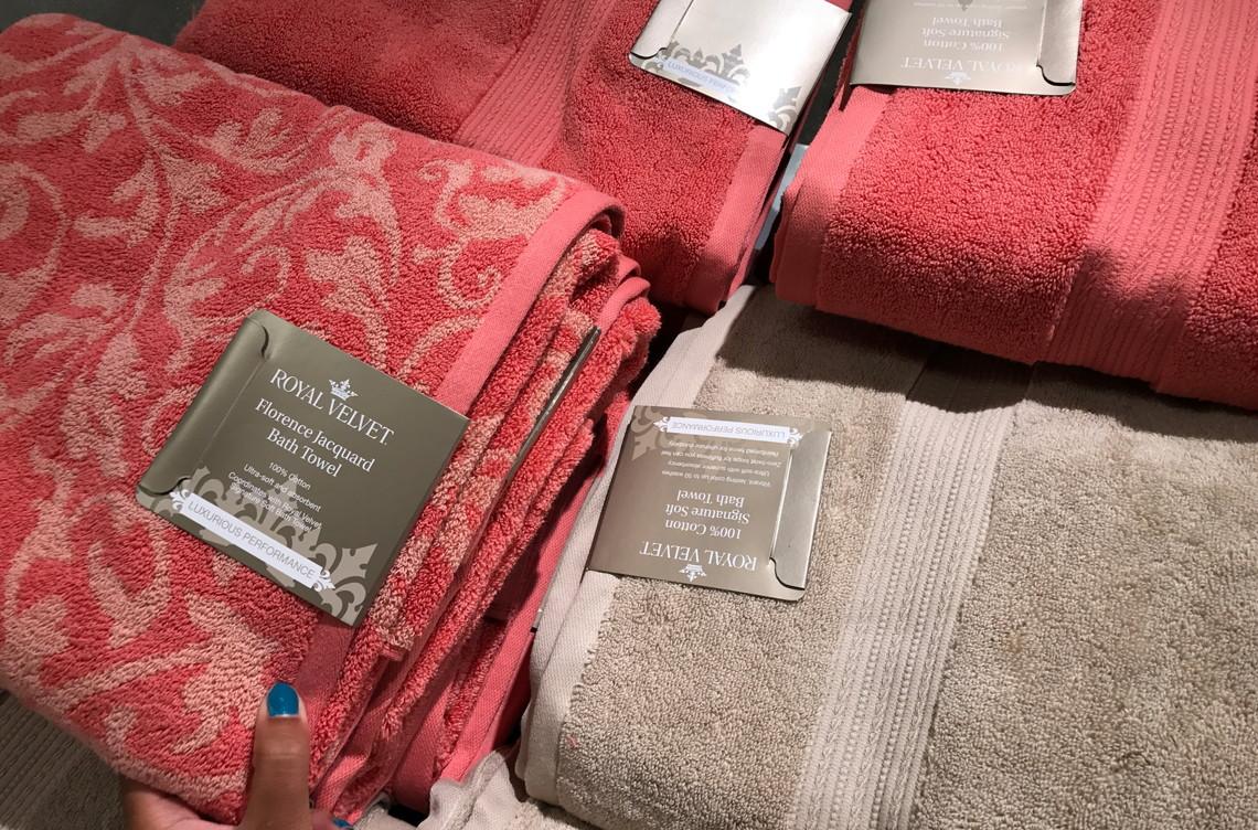 Jcpenney Towels Bath Towel Drape Main Donuts Royal