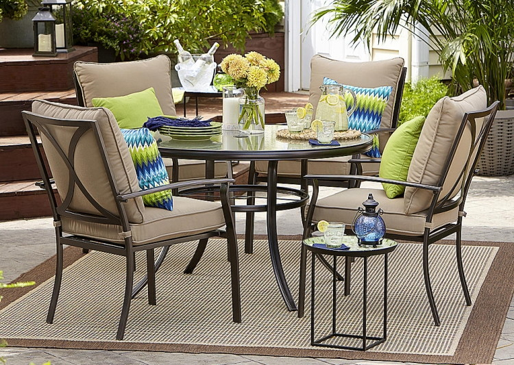 Or Garden Oasis Harrison 5 Piece Cushion Dining Set U2013 Tan (reg. $599.99)  $279.99. Members Get $10.00 In Shop Your Way Rewards Points When ...