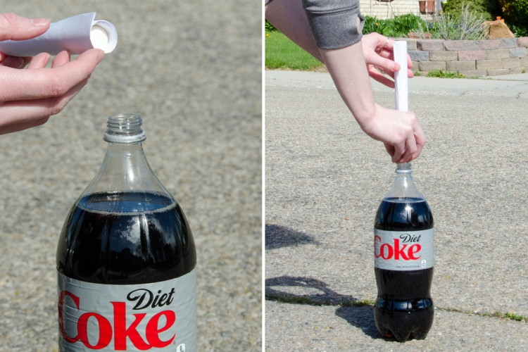 Make a cola fountain with Mentos.