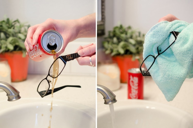 Clean the grime off eyewear.