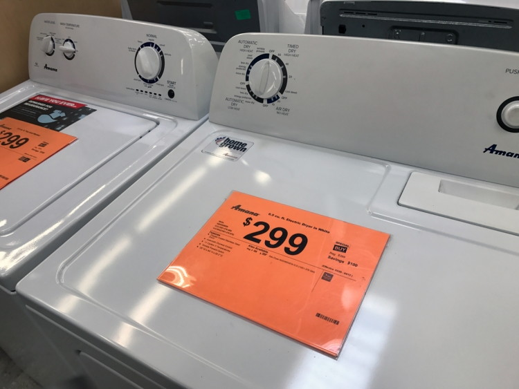 Home Depot Top Load Washer or Dryer Only 29999Save 10000